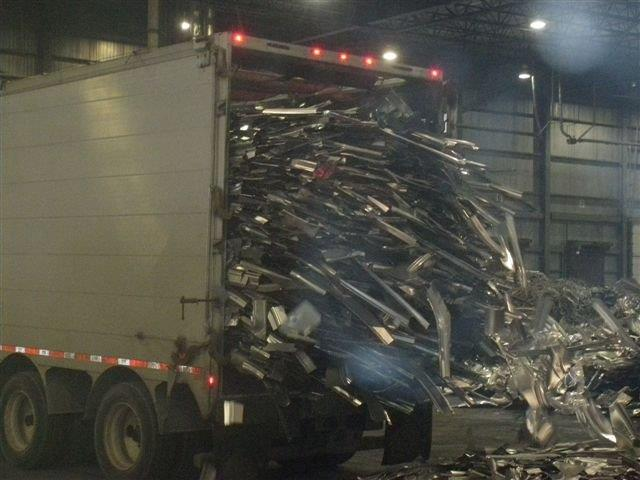Truck full of scrap metal for recycling